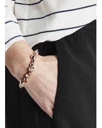 Eddie Borgo | Pink Rose Gold Plated Cone Bracelet | Lyst