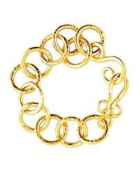 Stephanie Kantis | Metallic Classic Hammered Link Bracelet | Lyst