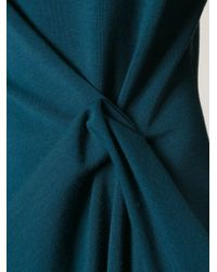 Lanvin - Blue Draped Dress - Lyst