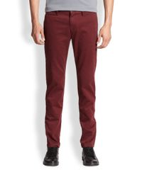 Burberry Brit - Red Skinny-Fit Chino Trousers for Men - Lyst