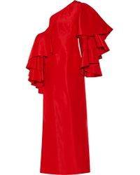 Rosie Assoulin | Red Bidi Bidi Bom Bom Ruffled Silk-faille Gown | Lyst