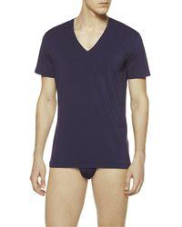 La Perla | Blue V-neck T-shirt for Men | Lyst