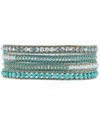 Chan Luu - Blue 32 Turquoise Mixbeige Seed Bead Wrap Bracelet - Lyst