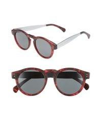 Komono Red 'clement' 48mm Retro Sunglasses for men