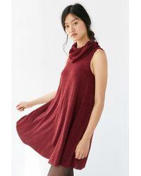 BDG | Purple Cowl-neck Swing Dress | Lyst