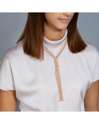 Astley Clarke - Metallic Rose Gold Pendulum Necklace - Lyst