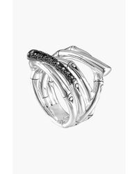 John Hardy | Metallic 'bamboo - Lava' Wide Ring | Lyst