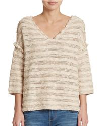 Free People - Natural Spells Trouble Stripe Pullover - Lyst