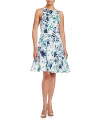 Maggy London - Multicolor Floral Fit-and-flare Dress - Lyst