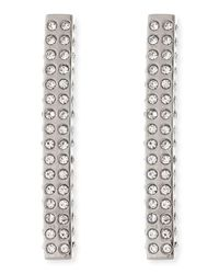 Vita Fede | Metallic Lia Crystal Bar Earrings | Lyst