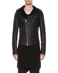 Rick Owens - Black Double Lined Stooges Biker Leather Jacket - Lyst