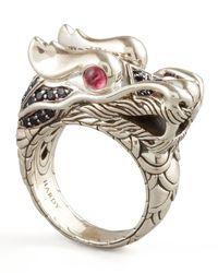 John Hardy | Metallic Naga Dragon Ring for Men | Lyst