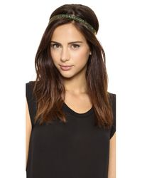 Dauphines of New York - Green Heat Of The Night Headband - Pink - Lyst