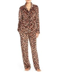 DKNY | Brown Microfleece Pajamas | Lyst