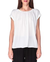 ONLY - White Short Sleeve Top - Lyst