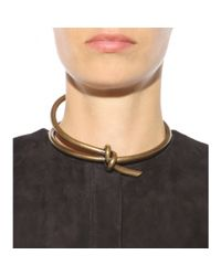 Balenciaga | Metallic Knot Necklace | Lyst
