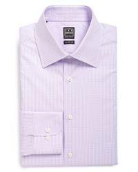 Ike Behar | Purple Regular Fit Gingham Dress Shirt for Men | Lyst