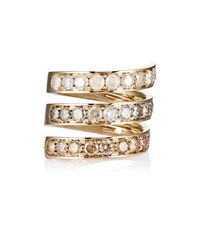 Roberto Marroni - Metallic Mixed-diamond Spiral Ring - Lyst
