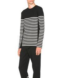Alexander Wang - Black Striped Gel Print Long Sleeve Tee - Lyst
