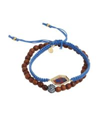 Tai | Set Of Two - Blue Montana Cinch And Beaded Bracelet | Lyst