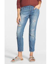 Volcom - Blue Boyfriend Jeans - Lyst