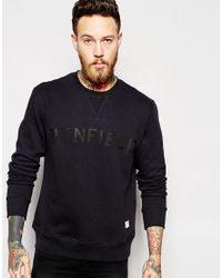 Penfield | Black Sweatshirt With Collegiate Logo for Men | Lyst