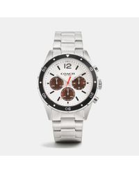 COACH | Metallic Sullivan Sport Stainless Steel Chrono Bracelet Watch | Lyst