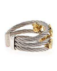 Alor - Metallic Diamond-Station Cable Ring - Lyst