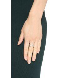 Vita Fede   Metallic Obsedia Crystal Ring - Silver/Clear   Lyst