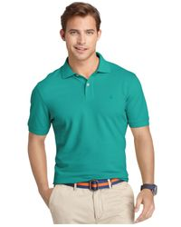 Izod | Green Big And Tall Short Sleeve Pique Polo for Men | Lyst