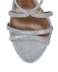 Belle By Badgley Mischka - Metallic Oval Open-toe Sandals - Lyst