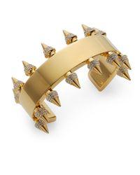 Vita Fede - Metallic Jeweled Spike Bracelet/Goldtone - Lyst