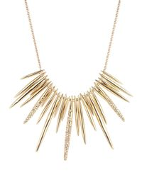Alexis Bittar - Metallic Golden Crystal Spike Bib Necklace - Lyst