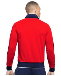 Polo Ralph Lauren - Red Polo Sport Pique Track Jacket for Men - Lyst