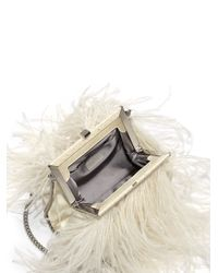 Ralph Lauren - White Feather & Snakeskin Clutch - Lyst