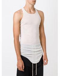 Rick Owens - White Curved Hem Tank Top for Men - Lyst