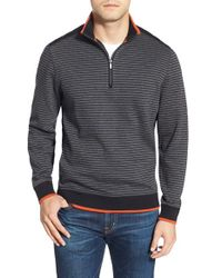 Bugatchi | Gray Stripe Pullover for Men | Lyst