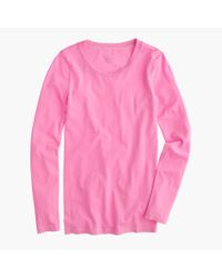J.Crew | Pink Tissue Long-sleeve T-shirt | Lyst