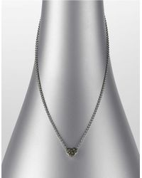 Judith Jack | White Crystal Pave And Marcasite Heart Necklace | Lyst