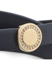 Astley Clarke   Metallic 18ct Gold Cosmos Navy Bolsena Bracelet   Lyst