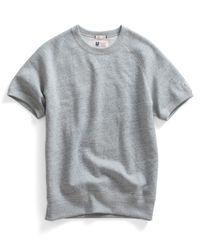 Todd Snyder | Gray Short Sleeve Sweatshirt In Grey Heather for Men | Lyst