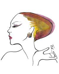 Iosselliani - Green Deco Crystal Earrings - Lyst