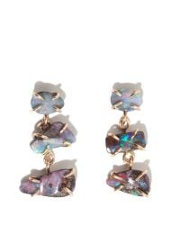 Melissa Joy Manning | Multicolor Boulder Opal Three Stone Earrings | Lyst