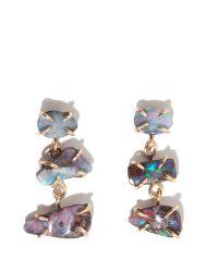 Melissa Joy Manning | Multicolor Boulder Opal Three Stone Earrings | Lyst