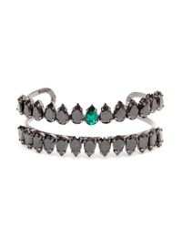 Chanael K - Blue Double-row Corundum Embellished Bracelet - Lyst