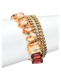 ABS By Allen Schwartz | Metallic Some Like It Hot Chain Wrap Bracelet | Lyst