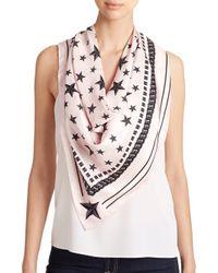 Givenchy - Pink Stars Silk Scarf - Lyst