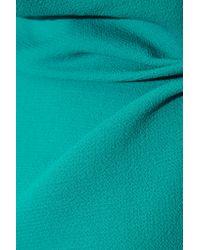 Roland Mouret - Blue - Eugene Open-back Wool-crepe Top - Teal - Lyst