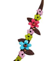 ASOS - Multicolor Leather Flower Headband - Lyst