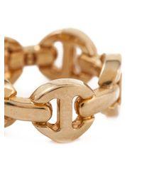 Hoorsenbuhs | Metallic 'tri-link' Ring | Lyst